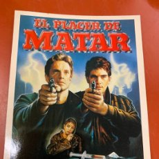 Cine: EL PLACER DE MATAR - POSTAL PROMOCIONAL DE LA PELICULA. MIDE 14,5X11CMS, LAUREN FILMS. IMPECABLE. Lote 177659684