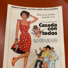 Cine: CASADA CON TODOS - POSTAL PROMOCIONAL DE LA PELICULA. MIDE 14,5X11CMS, LAUREN FILMS. IMPECABLE. Lote 177660344