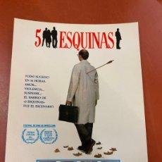 Cine: 5 ESQUINAS - POSTAL PROMOCIONAL DE LA PELICULA. MIDE 14,5X11CMS, LAUREN FILMS. IMPECABLE. Lote 177660372