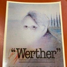 Cine: WERTHER - POSTAL PROMOCIONAL DE LA PELICULA. MIDE 14,5X11CMS, LAUREN FILMS. IMPECABLE. Lote 177660475