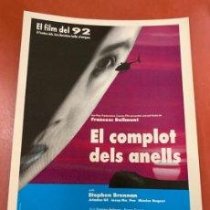 Cine: EL CPMPLOT DELS ANELLS - POSTAL PROMOCIONAL DE LA PELICULA. MIDE 14,5X11CMS, LAUREN FILMS. IMPECABLE. Lote 177660647