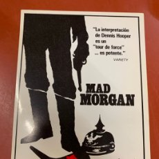 Cine: MAD MORGAN - POSTAL PROMOCIONAL DE LA PELICULA. MIDE 14,5X11CMS, LAUREN FILMS. IMPECABLE. Lote 177660948