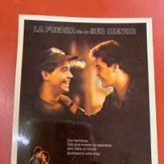 Cine: LA FUERZA DEL SER MENOR- POSTAL PROMOCIONAL DE LA PELICULA. MIDE 14,5X11CMS, LAUREN FILMS. IMPECABLE. Lote 177661034