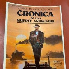 Cine: CRONICA DE UNA MUERTE - POSTAL PROMOCIONAL DE LA PELICULA. MIDE 14,5X11CMS, LAUREN FILMS. IMPECABLE. Lote 177664169