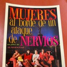 Cine: MUJERES AL BORDE DE UN ATAQUE DE NERVIOS - POSTAL PROMOCIONAL DE LA PELICULA. 14,5X11CMS. IMPECABLE. Lote 177664279