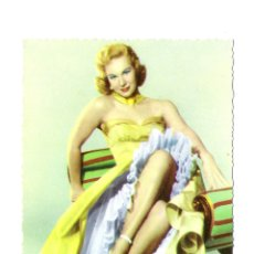 Cine: VIRGINIA MAYO -WARNER BROS-POSTAL ORIGINAL COLOR AÑOS SESENTA-BORDE TROQUELADO. Lote 178066659