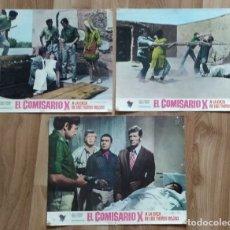 Cine: EL COMISARIO X A LA CAZA DE LOS TIGRES ROJOS. 3 FOTOCROMOS.. Lote 178079817