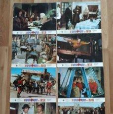 Cine: LOTE 8 FOTOCROMOS 3 SUPERHOMBRES EN EL OESTE. . Lote 178079963