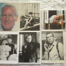 Cine: ANTIGUAS POSTALES DE ACTORES Y ACTRICES, SEIS: PAUL NEWMAN, CLAUDIA CARDINALE, MARILYN MONROE,. Lote 178151418