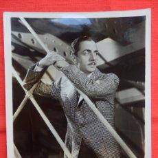 Cine: WILLIAM POWELL, FOTOGRAFIA ORIGINAL WARNER BROS & VITAFONE PICTURES 195, 20X25.5 EXCELENTE ESTADO. Lote 178182512
