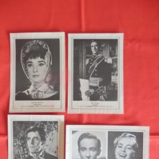 Cine: GUERRA Y PAZ, 4 FOTOCROMOS ACTORES, HENRY FONDA, ANDREY HEPBURN, MEL FERRERV.GASSMAN A.EKBERG. Lote 178218456
