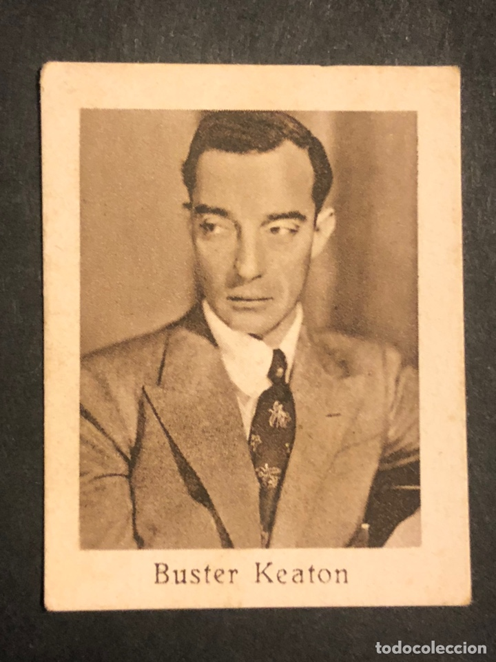 CROMO 4,5 X 3,5 CM ARTISTAS DE CINE BUSTER KEATON (Cine - Fotos y Postales de Actores y Actrices)