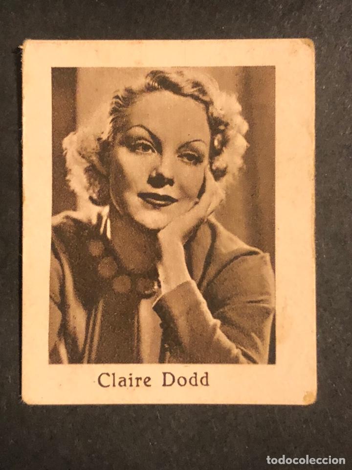 CROMO 4,5 X 3,5 CM ARTISTAS DE CINE CLAIRE DODD (Cine - Fotos y Postales de Actores y Actrices)