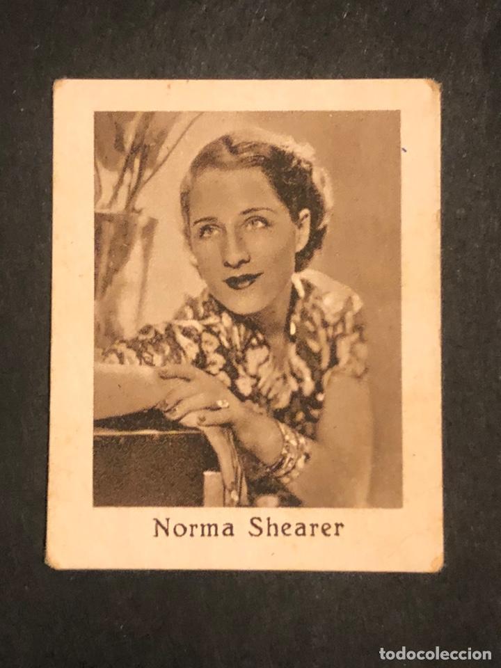 CROMO 4,5 X 3,5 CM ARTISTAS DE CINE NORMA SHEARER (Cine - Fotos y Postales de Actores y Actrices)