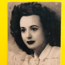 Cine: ANTIGUA FOTOGRAFIA ACTRIZ ARTISTA 1940/50 DEDICADA Y FIRMADA I. Lote 178697101