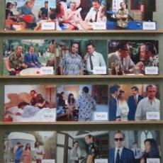 Cine: ZW51 SAINTJACK EL REY DE SINGAPUR BEN GAZZARA SET COMPLETO 12 FOTOCROMOS ORIGINAL ESTRENO. Lote 178718043