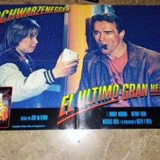 Cine: EL ULTIMO GRAN HEROE ARNOLD SCHWARZENEGGER FOTOCROMO ORIGINAL TAMAÑO 47X67 CM. Lote 24233510
