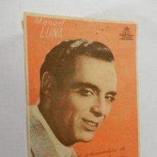 Cine: MANUEL LUNA CIFESA - CON FIRMA - CASINO CINEMA. . Lote 178893761