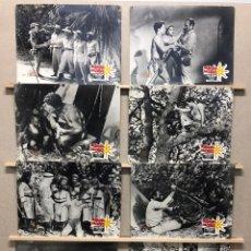 Cine: EL IDOLO DE ORO, JOHNNY SHEFFIELD - SET 8 FOTOCROMOS DE CARTON. Lote 178974003