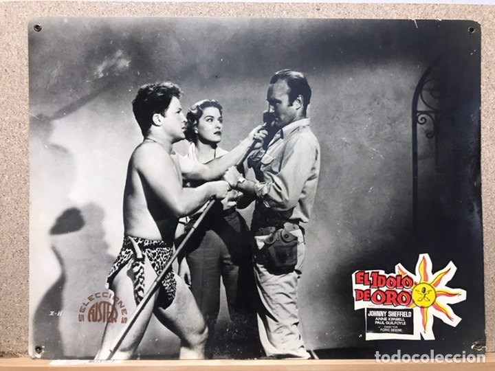 Cine: EL IDOLO DE ORO, JOHNNY SHEFFIELD - SET 8 FOTOCROMOS DE CARTON - Foto 3 - 178974003