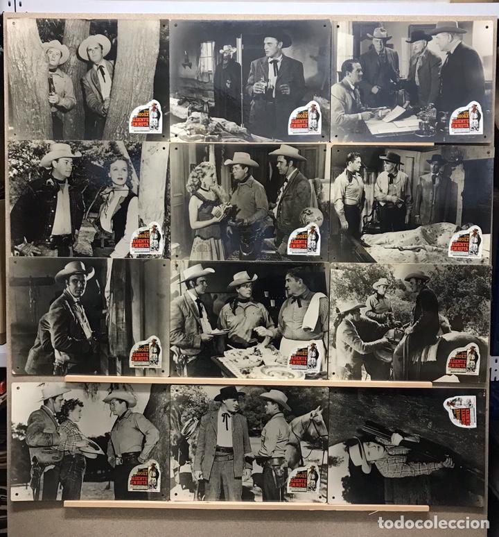 AGENTE EN RUTA, TIM HOLT - SET 12 FOTOCROMOS DE CARTON (Cine - Fotos, Fotocromos y Postales de Películas)