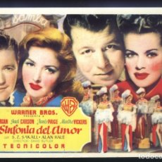 Cine: P-8425- LA SINFONIA DEL AMOR (THE TIME, THE PLACE AND THE GIRL) (FICHA) DENNIS MORGAN. Lote 179056815