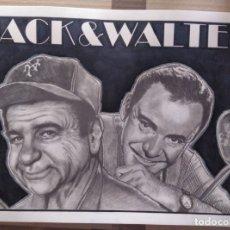 Cine: JACK & WALTER - DIBUJO ORIGINAL, FIRMADO. A3.42X29 CM.. Lote 179097008