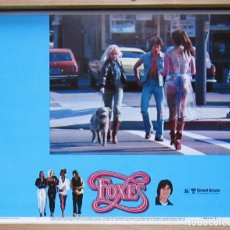 Cine: ZJ29 FOXES (ZORRAS) JODIE FOSTER ADRIAN LYNE FOTOCROMO LOBBY CARD ORIGINAL AMERICANO. Lote 179261745