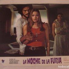Cine: LA NOCHE DE LA FURIA / BLANCA ESTRADA, CARLOS AURED / JUEGO ORIGINAL 8 FOTOCROMOS ESTRENO. Lote 179336832