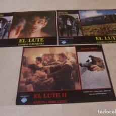 Cine: EL LUTE (2 FOTOCROMOS) + EL LUTE 2 (1 FOTOCROMO) / JUEGO ORIGINAL 3 FOTOCROMOS ESTRENO. Lote 179337237