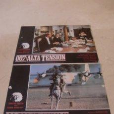 Cine: 007 ALTA TENSION / TIMOTHY DALTON, / JUEGO ORIGINAL 2 FOTOCROMOS ESTRENO. Lote 179337362