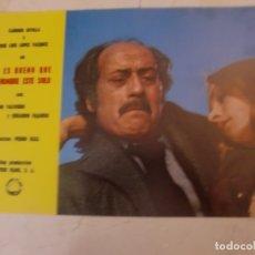 Cine: NO ES BUENO QUE EL HOMBRE ESTE SOLO / J L LÓPEZ VÁZQUEZ / C SEVILLA /JUEGO ORIG 9 FOTOCROMOS ESTRENO. Lote 179337581