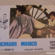 Cine: EL LUCHADOR MANCO / WANG YU / JUEGO COMPLETO ORIGINAL 12 FOTOCROMOS ESTRENO. Lote 179337700