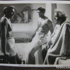 Cine: SPARTACUS ESPARTACO - FOTO ORIGINAL B/N - LAURENCE OLIVIER JOHN GAVIN CHARLES LAUGHTON KUBRICK. Lote 180030182