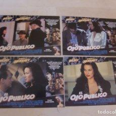 Cine: EL OJO PUBLICO / JOE PESCI, BARBARA HERSHEY / JUEGO 4 FOTOCROMOS ORIGINALES ESTRENO. Lote 180039242