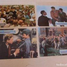 Cine: LA CIUDAD DE LOS MUCHACHOS / SPENCER TRACY / JUEGO 4 FOTOCROMOS ORIGINALES REESTRENO. Lote 180040112