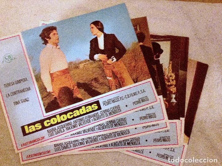 5 LOBBY CARDS DE LAS COLOCADAS (1972). DIR.: PEDRO MASÓ. CON TERESA GIMPERA (Cine - Fotos, Fotocromos y Postales de Películas)
