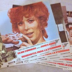 Cine: 5 LOBBY CARDS DE DIAMANTES PARA LA ETERNIDAD (1971). CON SEAN CONNERY.. Lote 180151971
