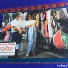 Cine: FOTOCROMO TODO ES POSIBLE EN GRANADA CON MANOLO ESCOBAR. BUEN ESTADO.. Lote 180215645