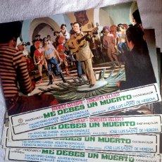 Cine: [5 LOBBY CARDS DE:] ME DEBES UN MUERTO (1971). CON MANOLO ESCOBER Y CONCHA VELASCO. Lote 180247535