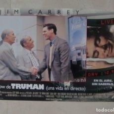 Cine: EL SHOW DE TRUMAN / JIM CARREY, ED HARRIS / JUEGO ORIGINAL 11 FOTOCROMOS ESTRENO. Lote 180262270
