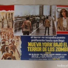Cine: NUEVA YORK BAJO EL TERROR DE LOS ZOMBI / LUCIO FULCI / JUEGO COMPLETO ORIGINAL 8 FOTOCROMOS ESTRENO. Lote 180263366