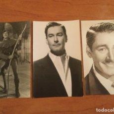 Cine: 3 FOTOS POSTALES DEL ACTOR ERROL FLYNN 1949 - 1953. Lote 180263777