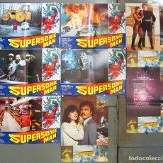 Cine: ZU04D SUPERSONIC MAN JUAN PIQUER SIMON SCI-FI SET COMPLETO 8 FOTOCROMOS ORIGINAL ESTRENO. Lote 181514606