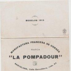 Cine: LOTE C PUBLICIDAD CORSETERIA LA POMPADUR BARCELONA MODELOS 1913. Lote 182109020