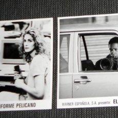Cine: LOTE FOTO ORIGINAL PRENSA WARNER ESPAÑOLA CINE PELÍCULA EL INFORME PELÍCANO. JULIA ROBERTS 1993. Lote 182222860