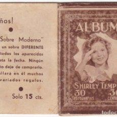 Cine: ALBUM SHIRLEY TEMPLE - 30 FOTOGRAFIAS - 10 X 7 CMS. Lote 182301221