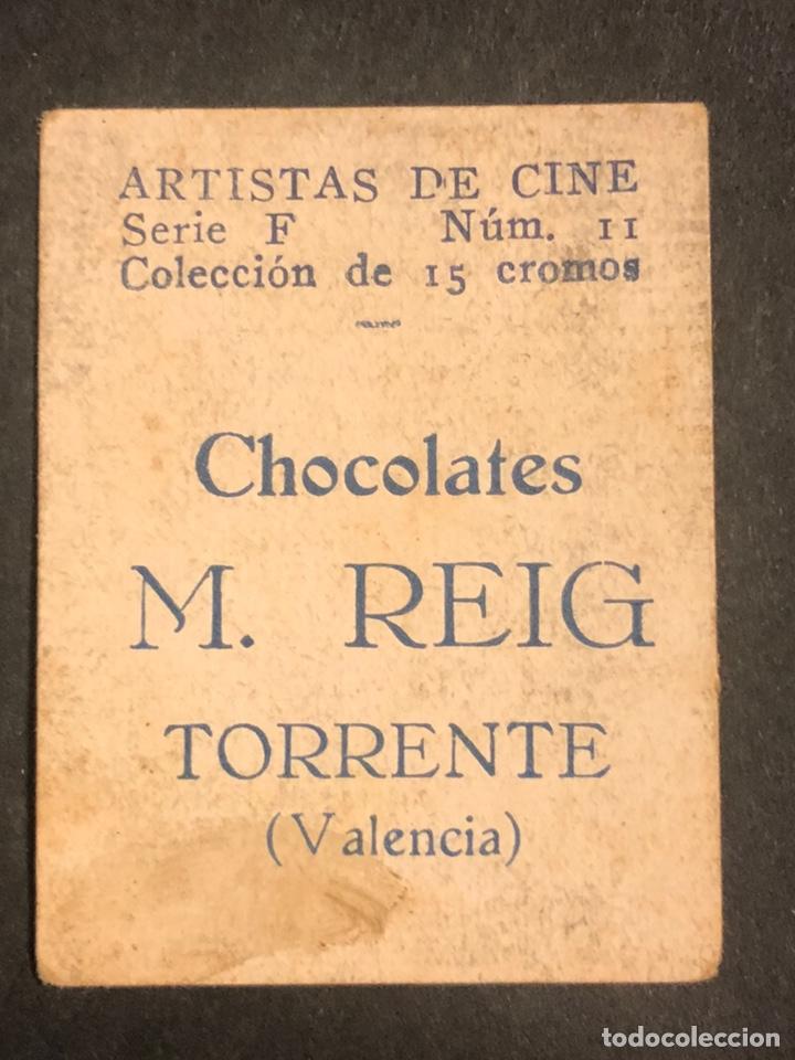 Cine: Cromo 4,5 x 3,5 cm artistas de cine madge evans.con publicidad chocolates m reig torrente valencia - Foto 2 - 182856922