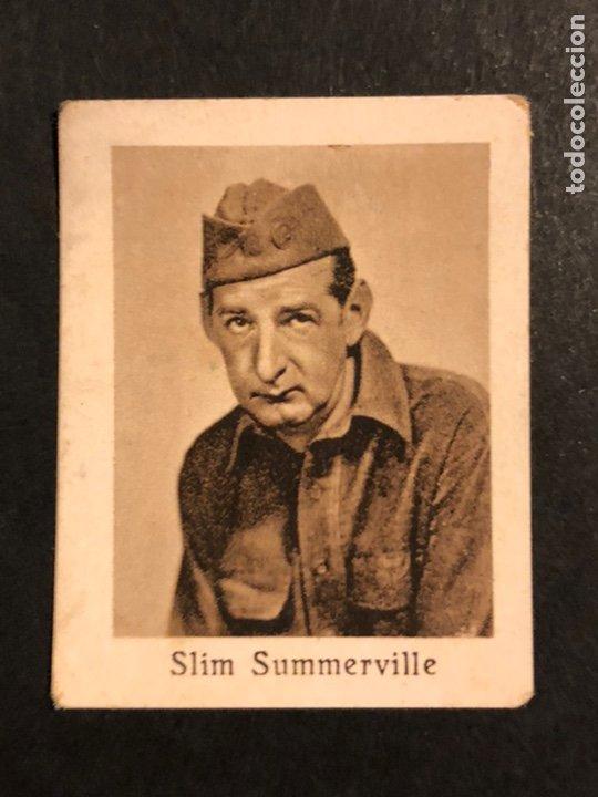 CROMO 4,5 X 3,5 CM ARTISTAS DE CINE SLIM SUMMERVILLE (Cine - Fotos y Postales de Actores y Actrices)