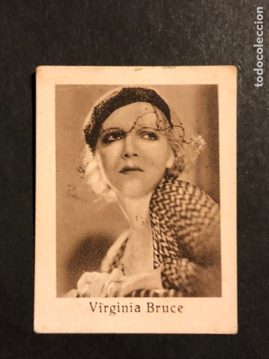 CROMO 4,5 X 3,5 CM ARTISTAS DE CINE VIRGINIA BRUCE (Cine - Fotos y Postales de Actores y Actrices)